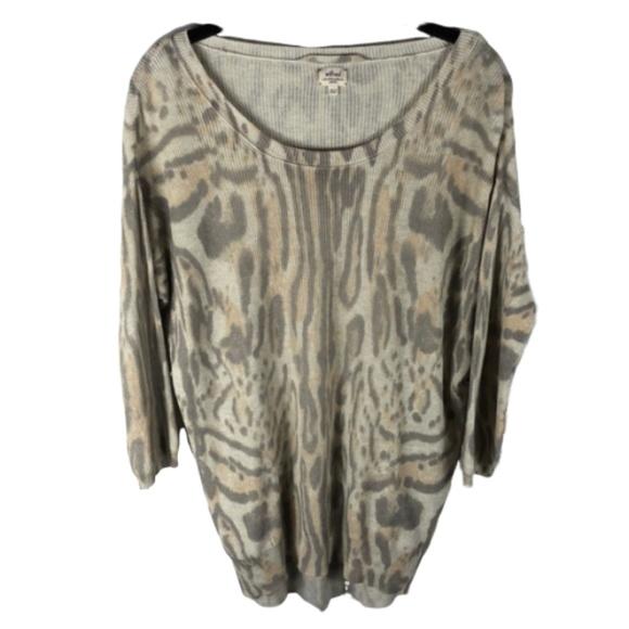 Wilfred Silk Cashmere  Sweater Animal Print XS